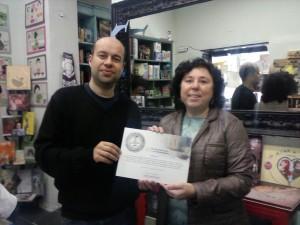 con Rosa Lencero